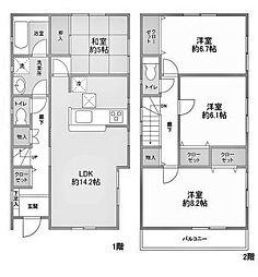 [一戸建] 神奈川県川崎市麻生区片平1丁目 の賃貸【/】の間取り