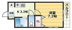 メゾンツジモト[1階]の間取り