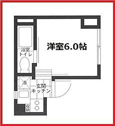 東京都台東区下谷2丁目の賃貸マンションの間取り