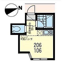ユナイト渡田ジェームズ・ボズウェル(右側)[0206号室]の間取り