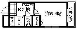 フレッサ岸和田[15号室]の間取り