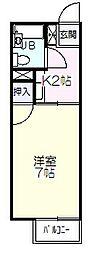 コーポシマノ[2階]の間取り