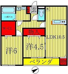 カーム桜台[2階]の間取り