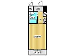 兵庫県神戸市垂水区高丸4丁目の賃貸マンションの間取り