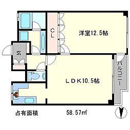 ノースコート[4階]の間取り