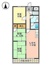 愛知県名古屋市名東区山の手3丁目の賃貸マンションの間取り