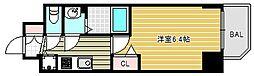 プレサンス松屋町グレース 13階1Kの間取り