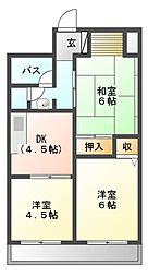 富士マンション[5階]の間取り