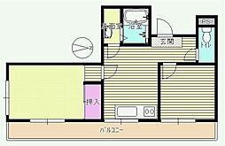 東京都八王子市本町の賃貸マンションの間取り