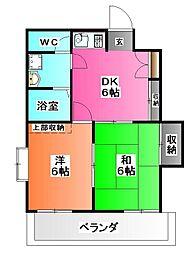 東京都北区志茂2の賃貸マンションの間取り