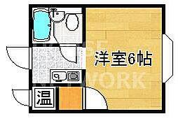 京都府京都市左京区下鴨泉川町の賃貸アパートの間取り