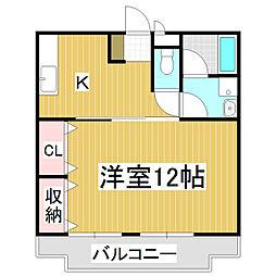 リンピア桔梗[2階]の間取り