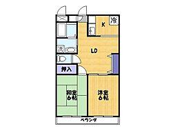 ワイズハマ[3階]の間取り