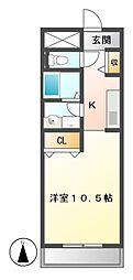 リバーサイド勝川[2階]の間取り