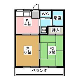 レイクサイド2[2階]の間取り