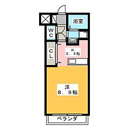 グランストーク福田[1階]の間取り