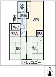 ドミール幸[2階]の間取り