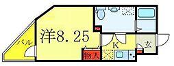 Sempliceときわ台 3階1Kの間取り
