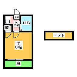 miniStay岩倉[1階]の間取り