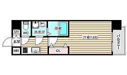 S-RESIDENCE福島grande 7階1Kの間取り
