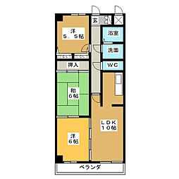 タウンホーム六番[3階]の間取り