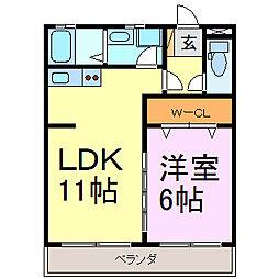 愛知県常滑市末広町2丁目の賃貸アパートの間取り