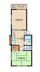 千葉県浦安市猫実4の賃貸アパートの間取り