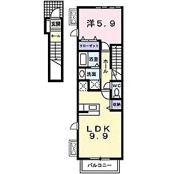 愛知県名古屋市守山区向台3丁目の賃貸アパートの間取り
