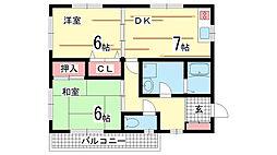 兵庫県神戸市長田区片山町4丁目の賃貸マンションの間取り