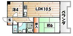 第9岡部ビル[5階]の間取り