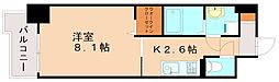 JR篠栗線 柚須駅 徒歩21分の賃貸マンション 11階1Kの間取り