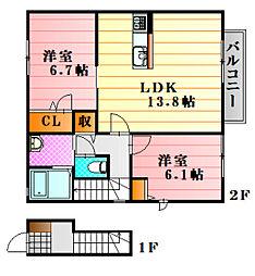 下深川駅の賃貸「2LDKの賃貸」 ...