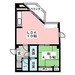 香林館[5階]の間取り