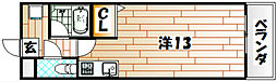 アクセス砂津[6階]の間取り