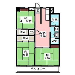 大橋アローハイム[5階]の間取り