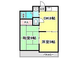 兵庫県神戸市垂水区歌敷山4丁目の賃貸マンションの間取り