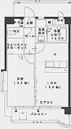 サンパティークFUTABA[5階]の間取り