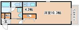兵庫県神戸市長田区二葉町8丁目の賃貸アパートの間取り
