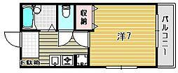 プリマ富田[2階]の間取り