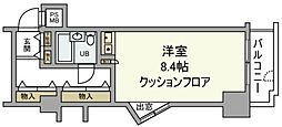 東京都府中市宮西町3丁目の賃貸マンションの間取り