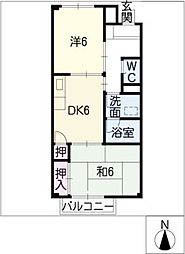 サンサープラスIII[2階]の間取り