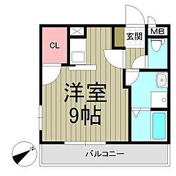 ソレジオ鎌倉II[203号室]の間取り