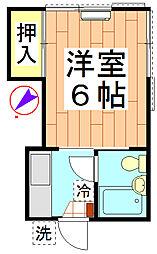 川名コーポ[201号室]の間取り