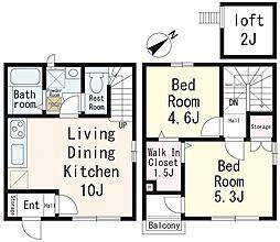 (仮称)鶴ヶ丘新築アパート[104号室]の間取り