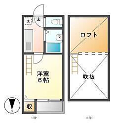 メゾンドクララ[1階]の間取り