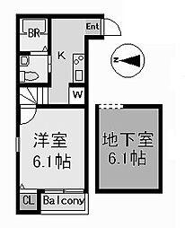 stage内田橋 (ステージウチダバシ)[1階]の間取り