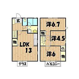 [テラスハウス] 神奈川県横浜市旭区南本宿町 の賃貸【/】の間取り