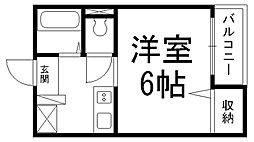 ワイエムカリヤ[0106号室]の間取り