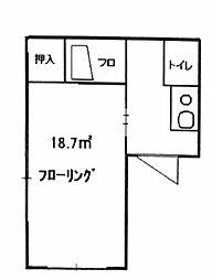 メゾンユニソール神楽坂(仲介手数料無料)[201号室号室]の間取り