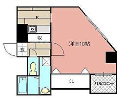 モナトリエ小倉平和通り[710号室]の間取り